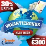vakantie bonus bij Oranje Casino