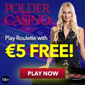 Tijdelijk €5 gratis bij Polder Casino