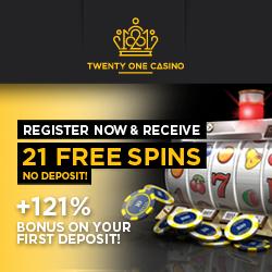 21 gratis spins bij Twentyone Casino