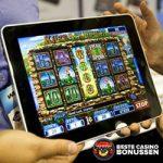 Gokken op een tablet