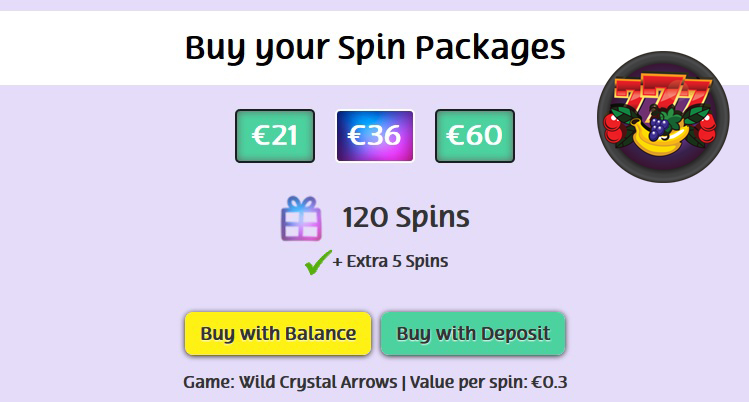 Free spins pakket PlayOJO Casino