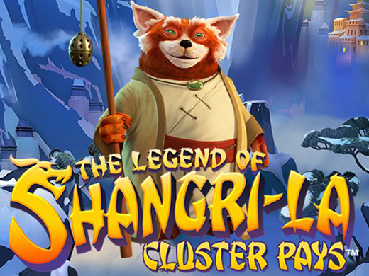 The legend of Shangri-la cluster pays logo