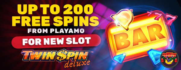 200 free spins op Twin Spin Deluxe