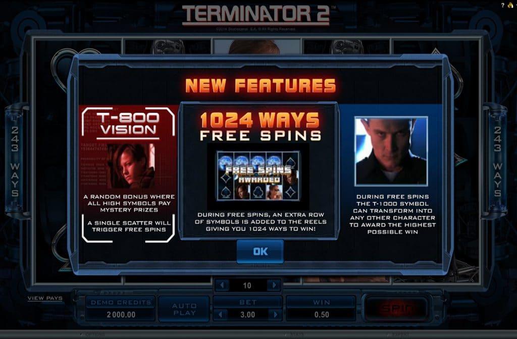 Free Spins bij Terminator 2