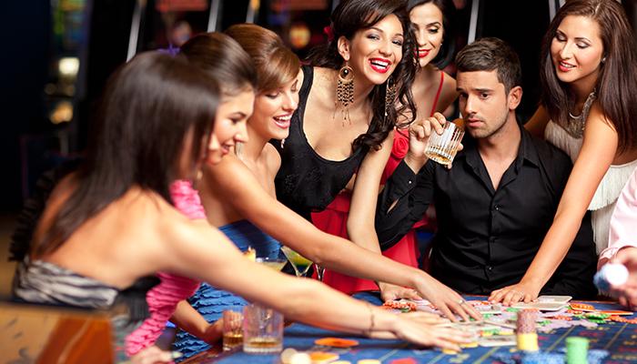 avondje uit in een fysiek casino
