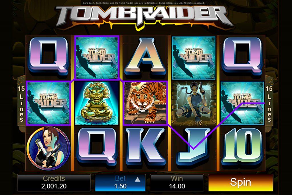 Tomb Raider gewonnen lijn