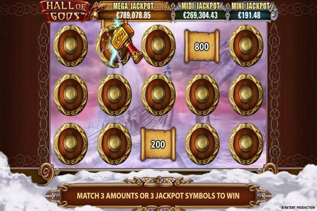 Jackpots bij Hall of Gods