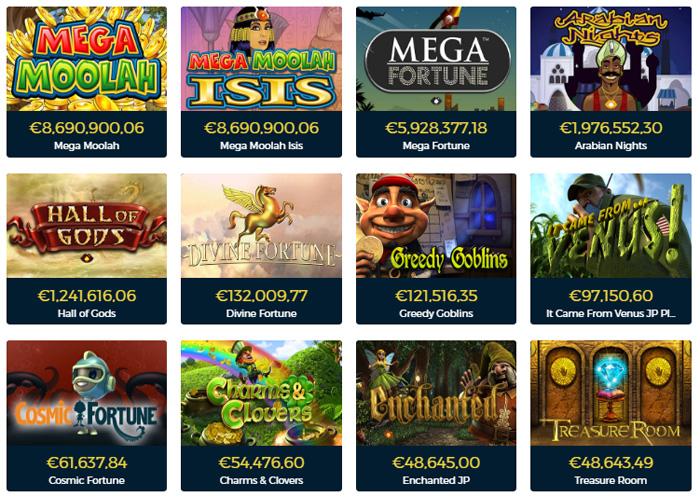 Jackpots van CasinoPop