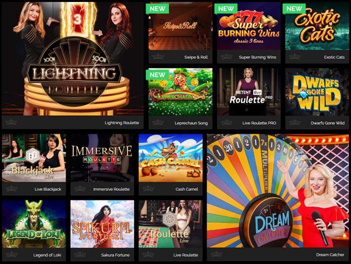 Veel variatie aan casino games