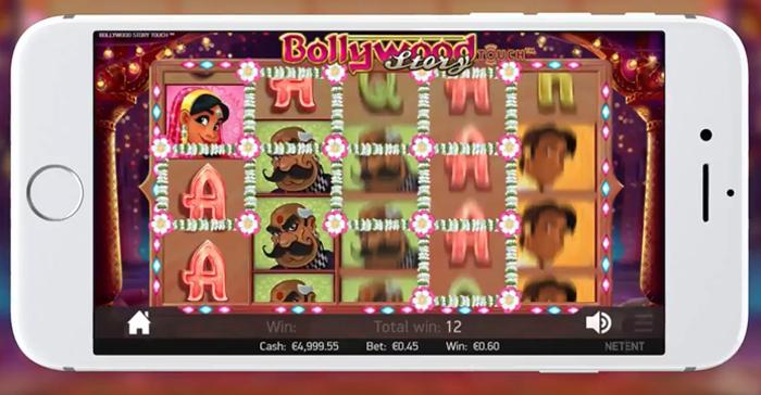 Bollywood Story op mobiel