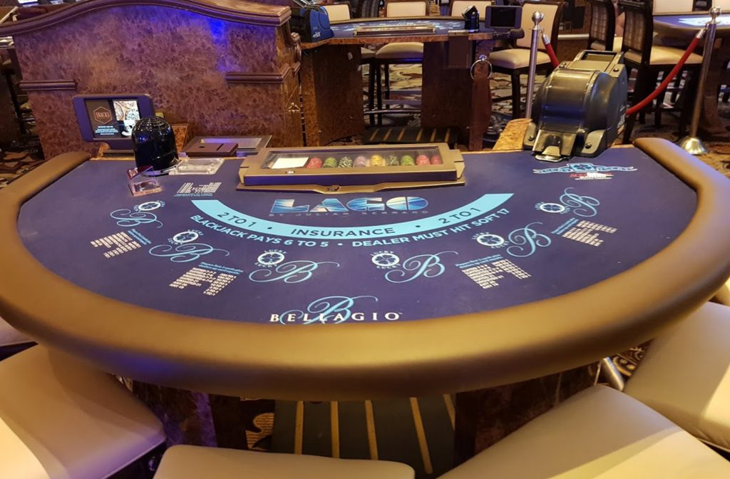 Blackjack in een casino