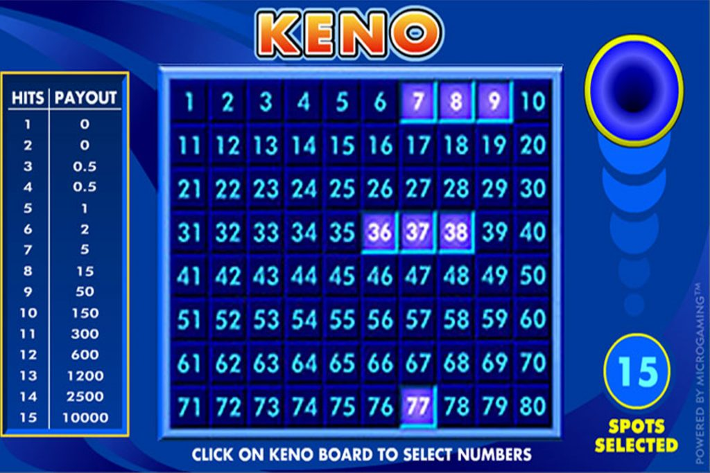 Keno in een online casino