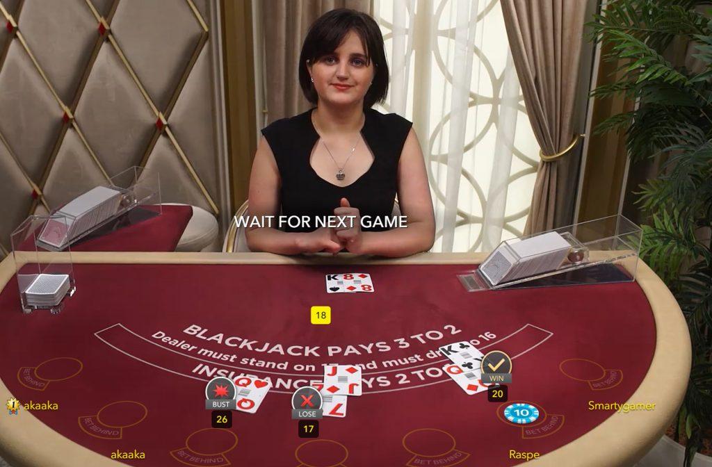 Live Classic Blackjack spelen