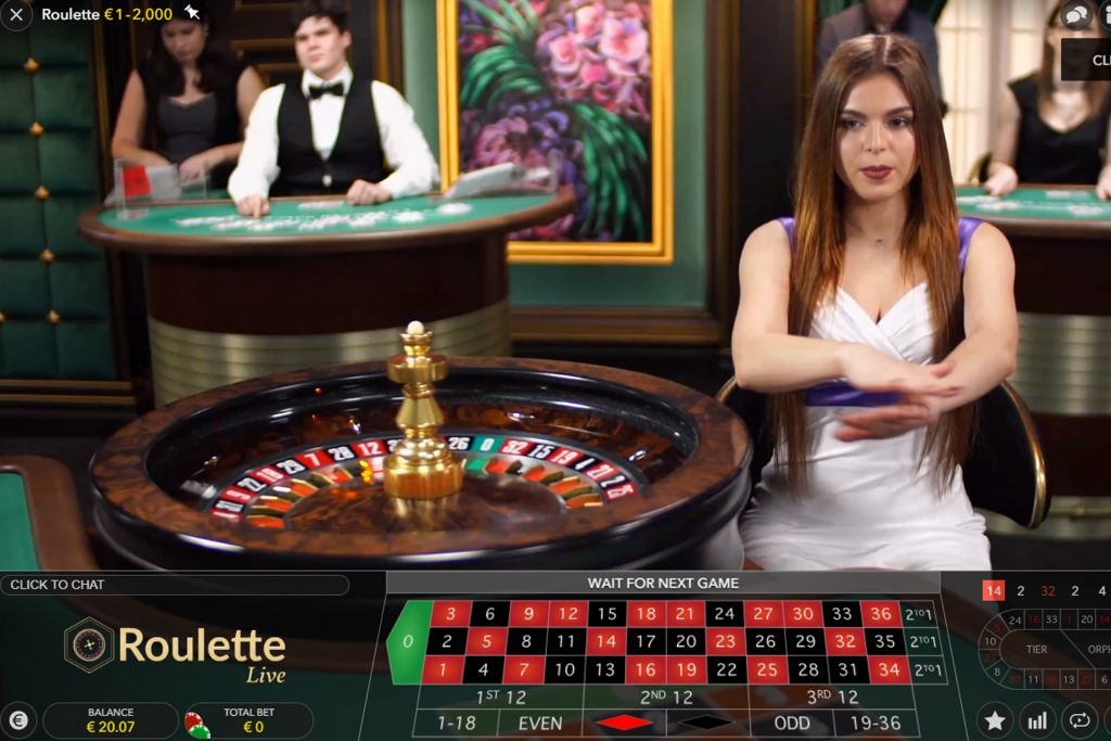 Online roulette bij Evolution Gaming