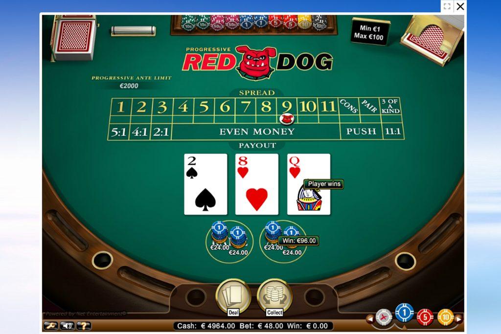 Speel Online Red Dog
