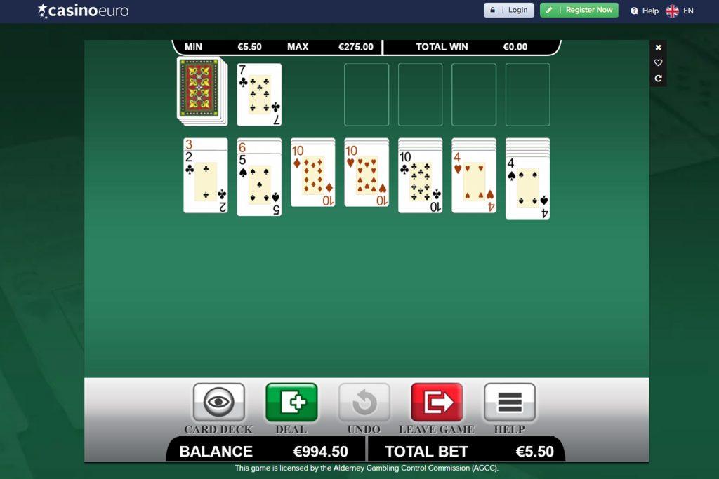 Speel online bij CasinoEuro