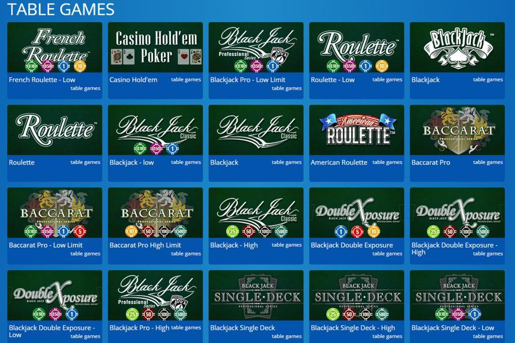 Tafelspellen Eskimo Casino