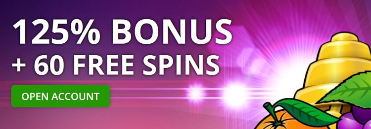 125 procent welkomstbonus Fruits4Real Casino