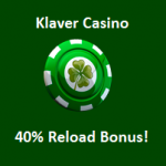 Klaver Casino reload bonus