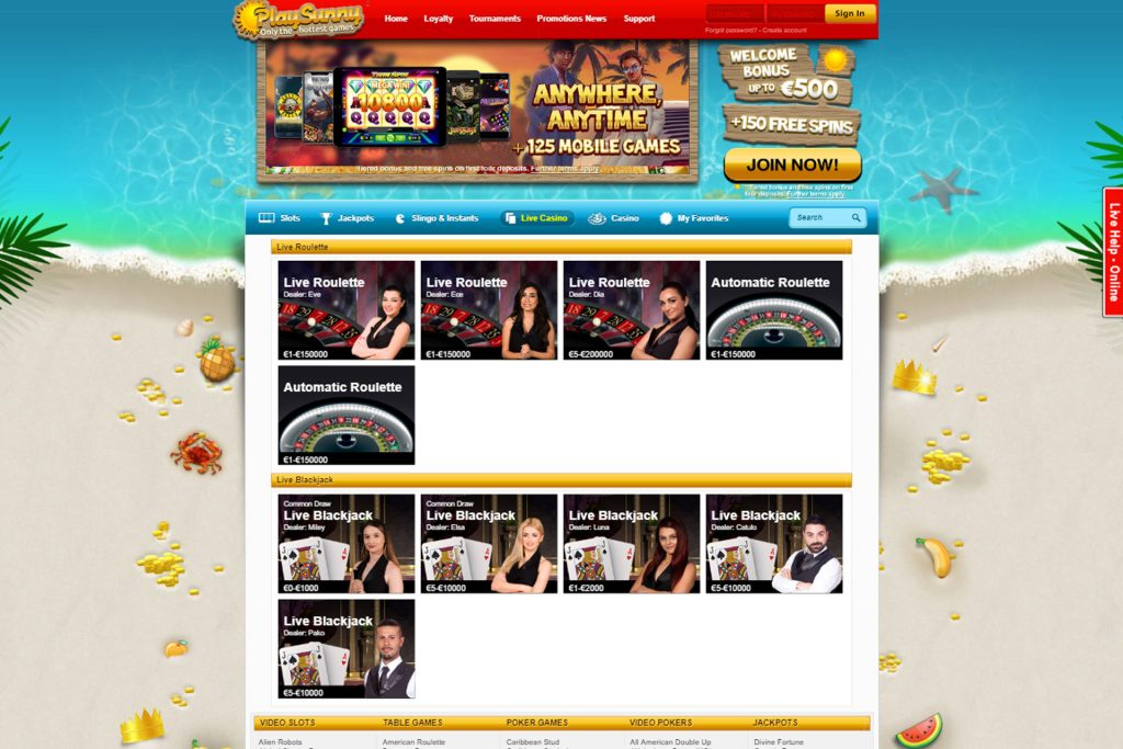 Zoncasino Software