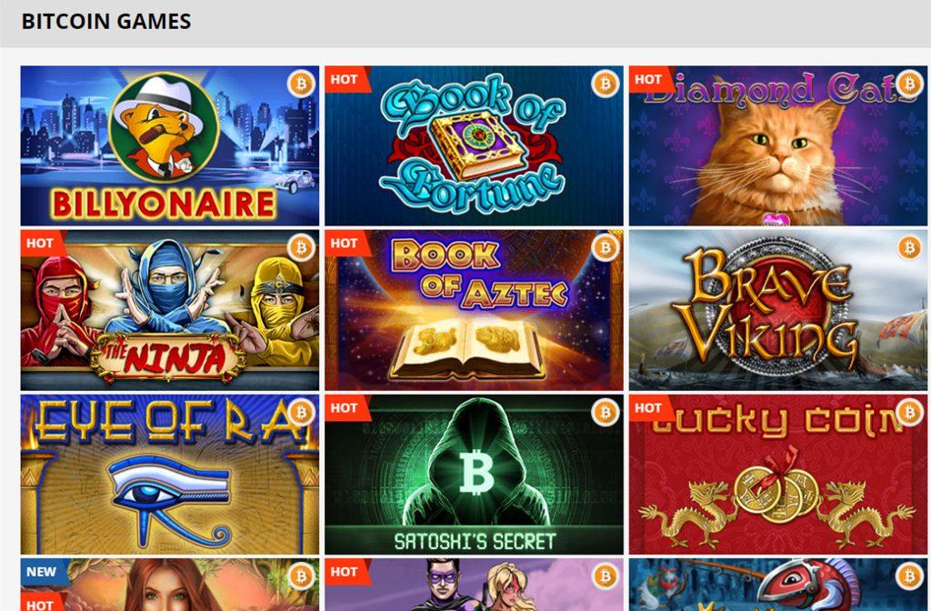 Bitcoins bij PlayAmo