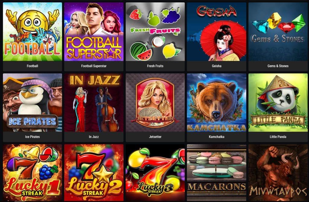 Casino spellen assortiment