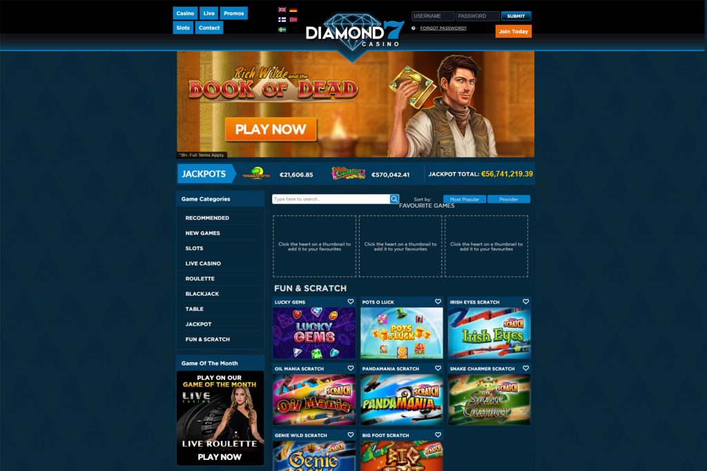 Diamond 7 online Casino