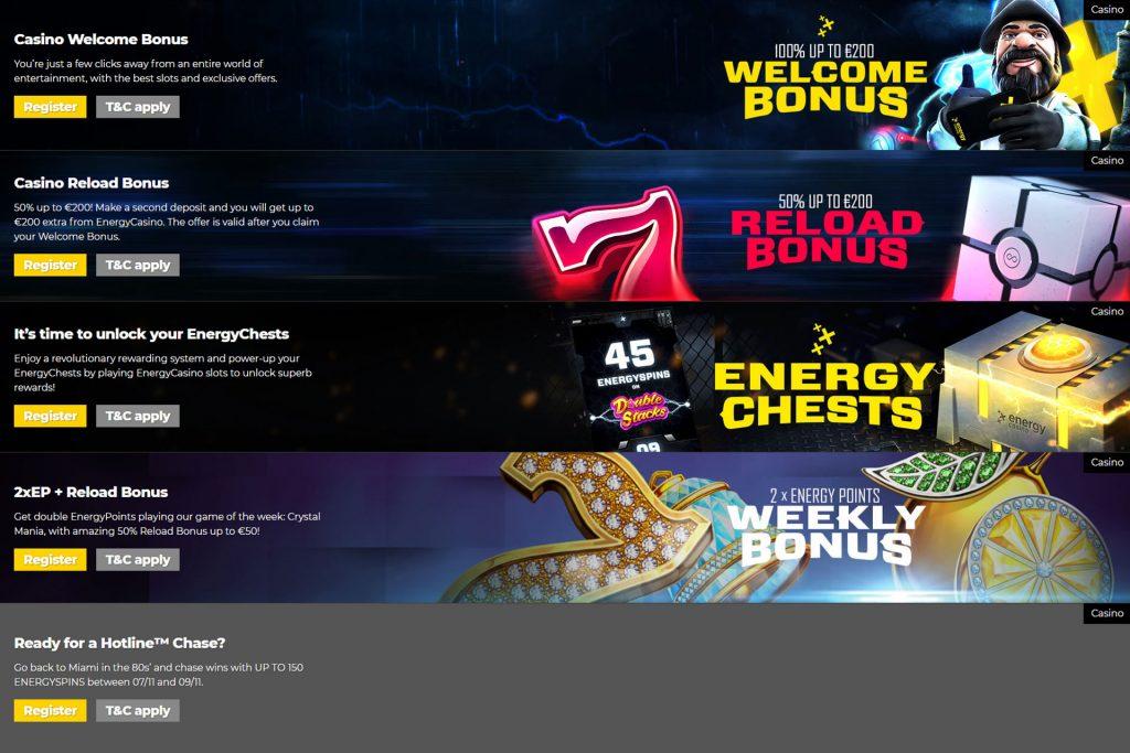 Energy Casino op mobiel