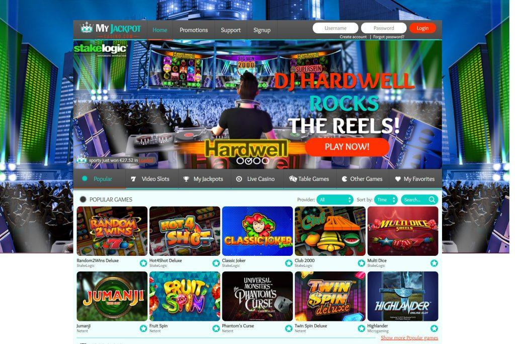 MyJackpot Casino spelaanbod Mega Moolah Jackpot