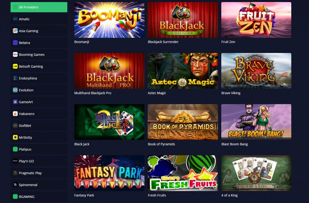 Screenshot MBit Casino