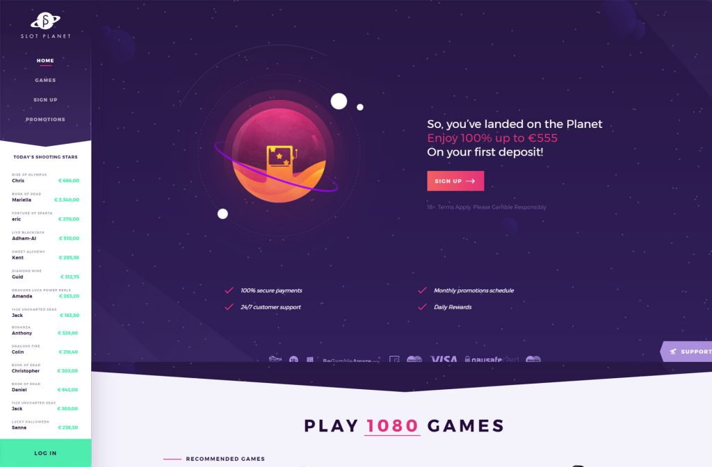 SlotPlanet Casino review