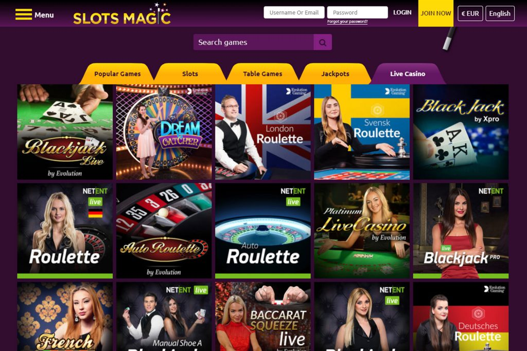 Slotsmagic Live Casino