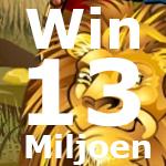 Win 13 miljoen