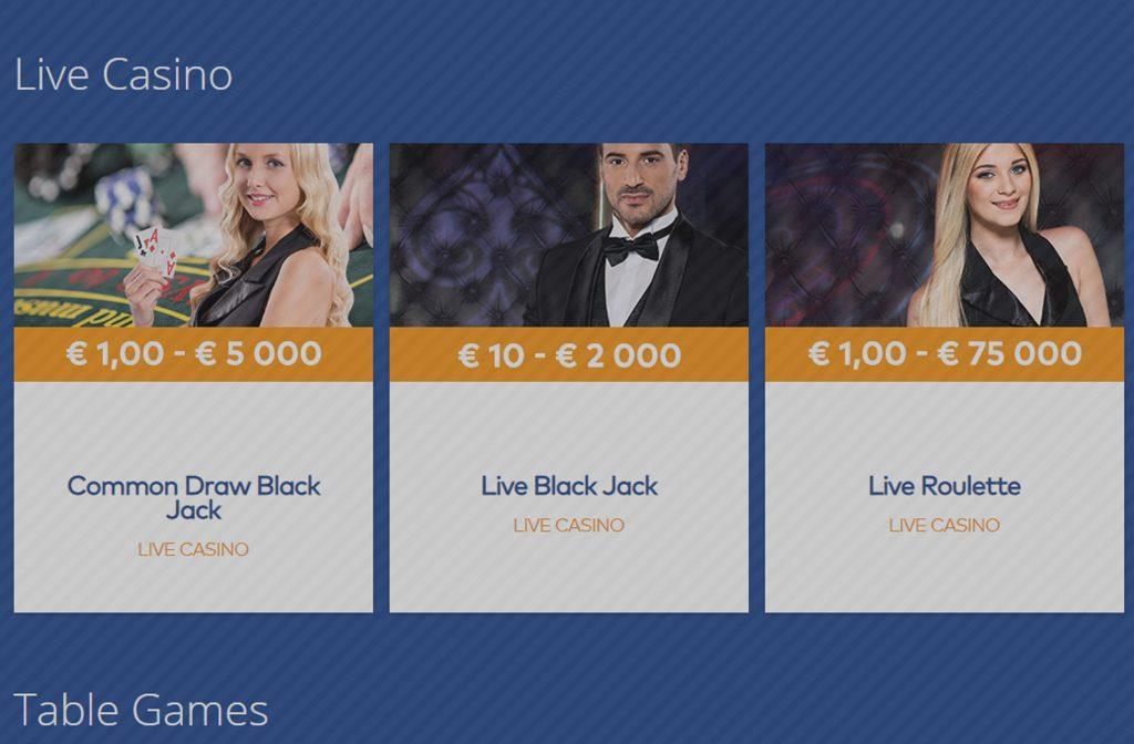 live casino van fortuin casino