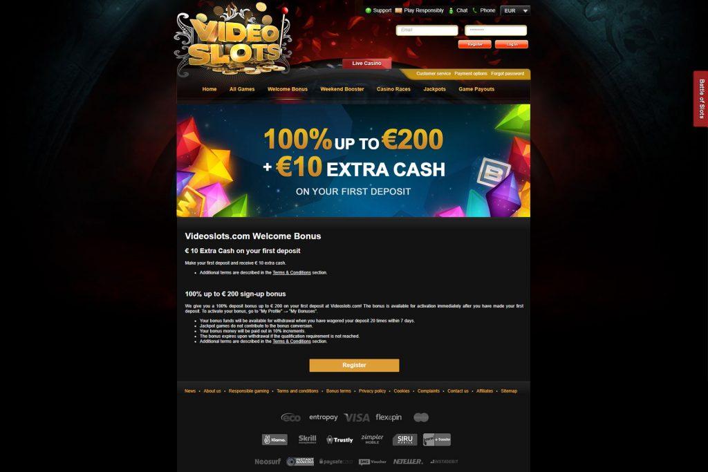 videoslots.com bonus