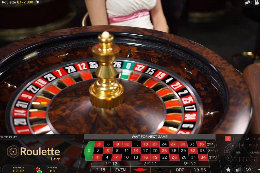 Europees Roulette bij Evolution Gaming
