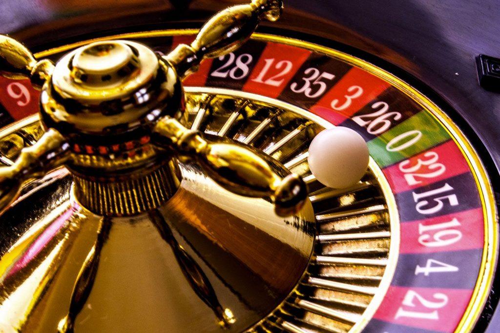 Het wiel bij Franse roulette