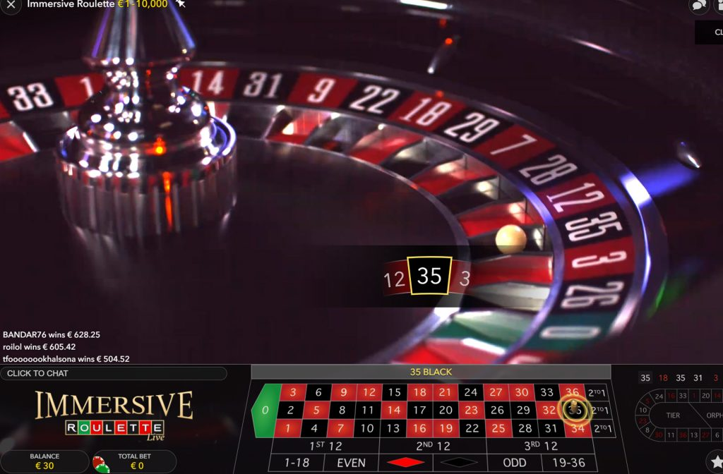 Immersive Roulette ®Evolution Gaming