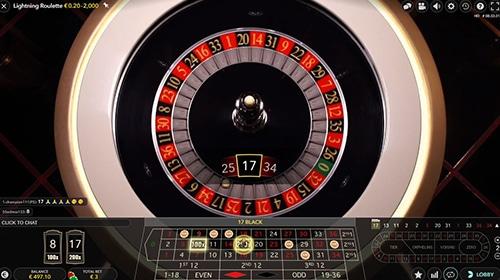 Lightning Roulette gevallen nummer