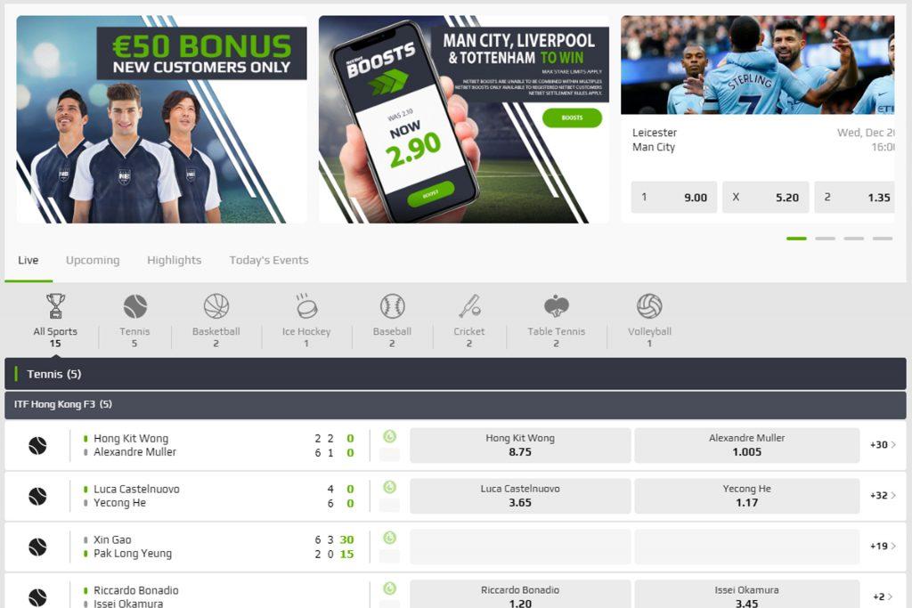 Online gokken bij een bookmaker