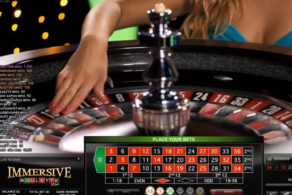 Winnen met Immersive roulette