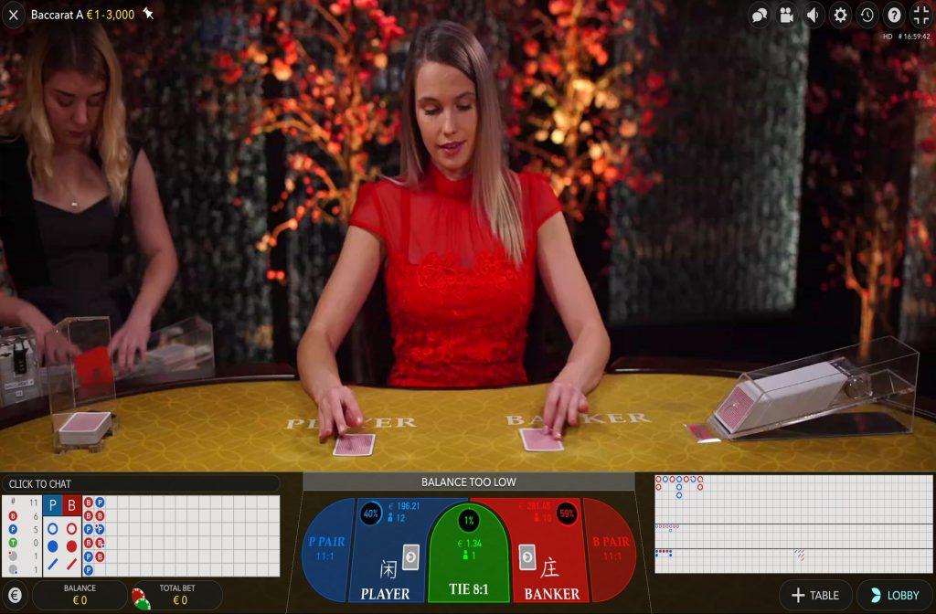 Dealer legt kaarten neer