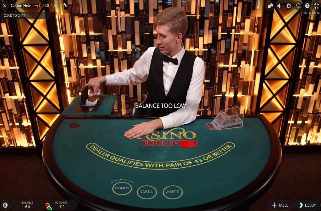 Live dealer pakt een nieuw deck