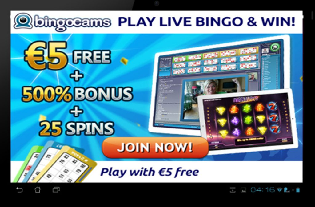 BingoCams via tablet