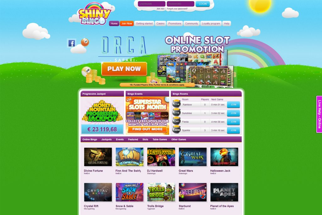 ShinyBingo Homepage