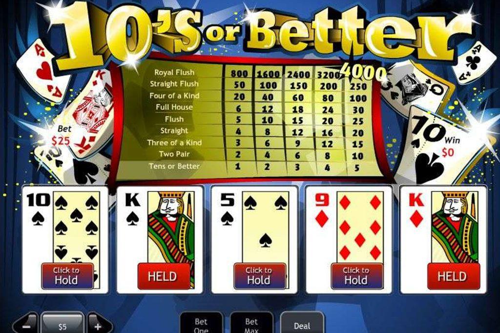 10's or Better Video Poker van een andere aanbieder