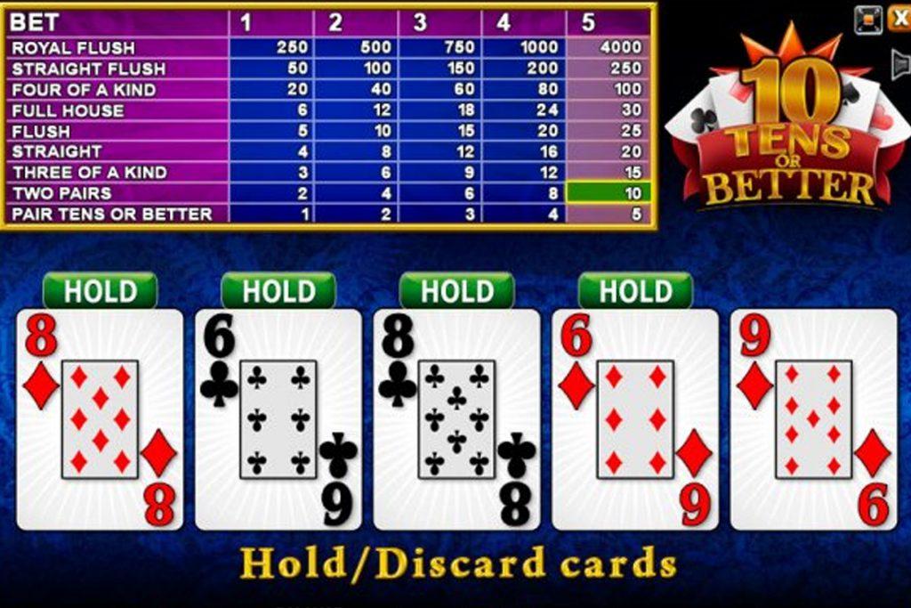 10's or Better Video Poker van nog een andere aanbieder