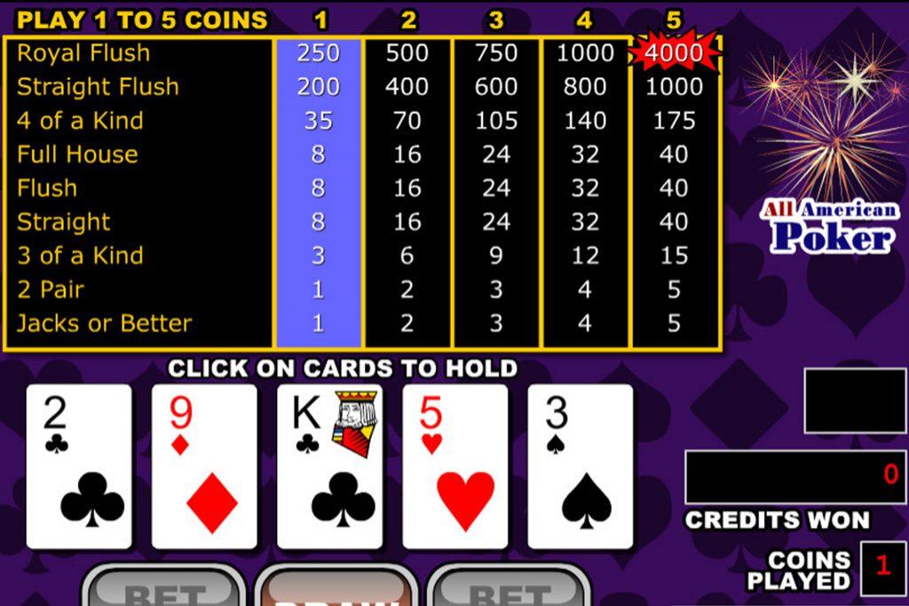 All American Poker bij een andere aanbieder