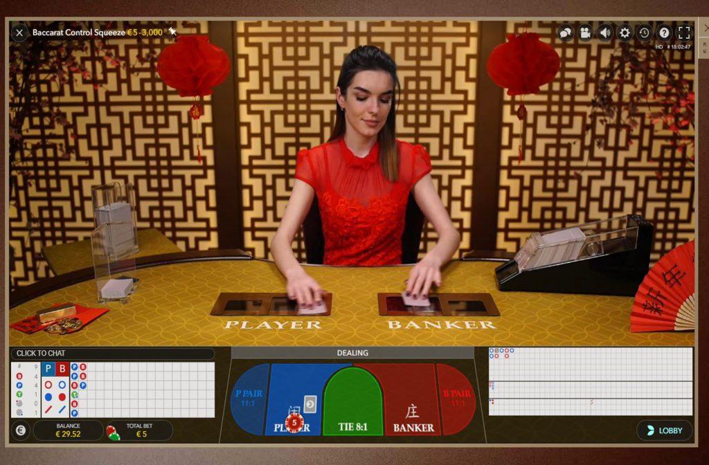Baccarat in het online live casino
