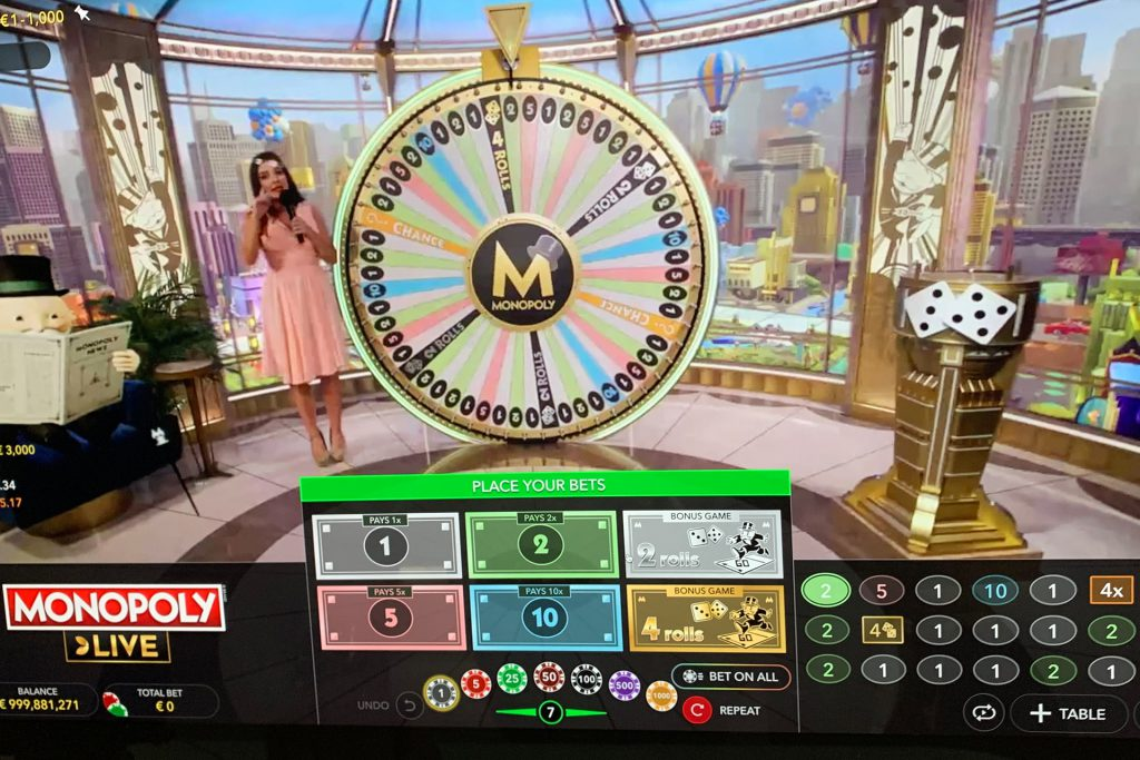 Preview van Monopoly Live van Evolution Games
